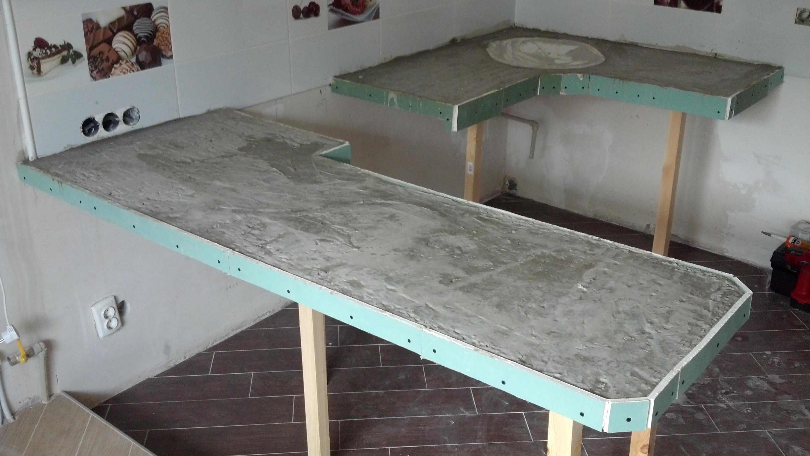 Сделать столешницу из бетона своими руками
